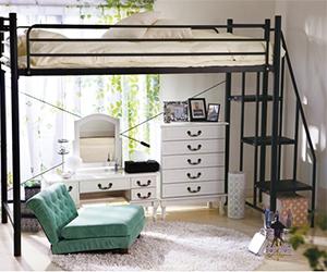 階段付きロフトベッド