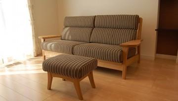 木製ソファー2