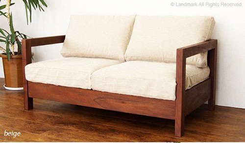 木製ソファー3