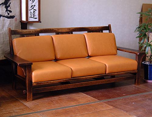 木製ソファー8