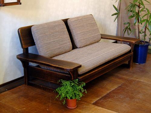 木製ソファー9