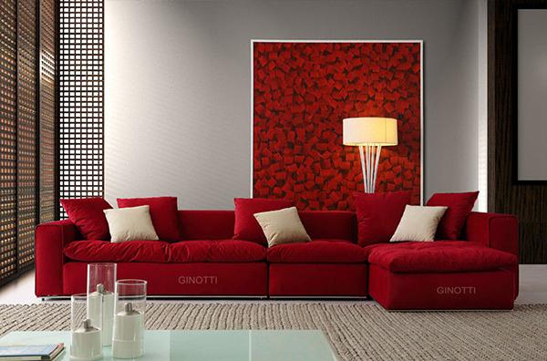 赤いソファー1