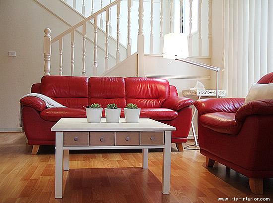 赤いソファー11