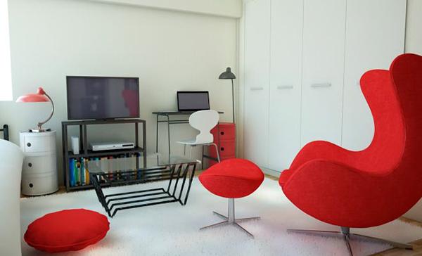 赤いソファー4