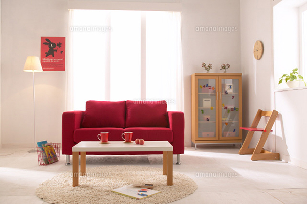 赤いソファー6