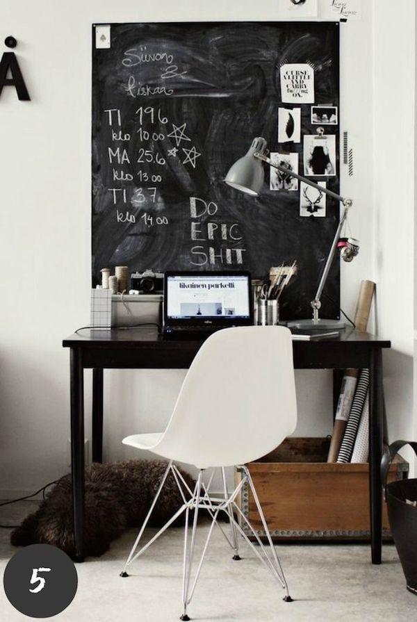 黒板塗料デスク1