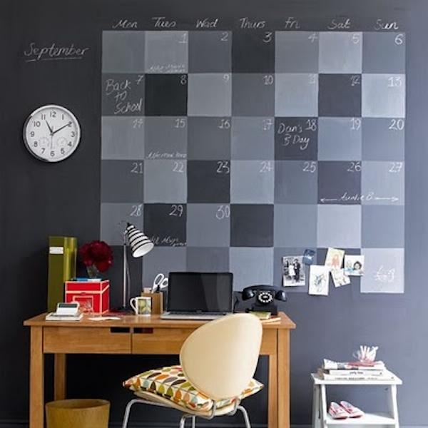 黒板塗料デスク3