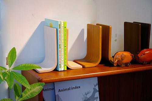 木製 ブックスタンド シンプル