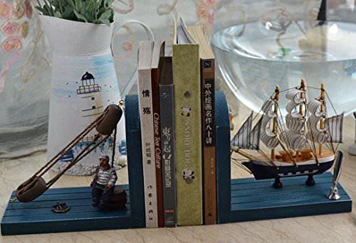木製 ブックスタンド 帆船