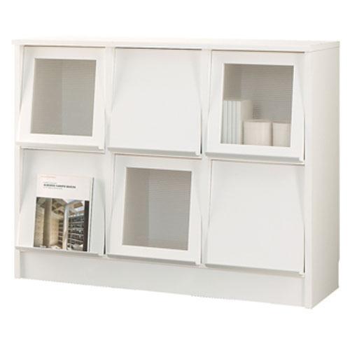 扉付き 本棚 ディスプレイ