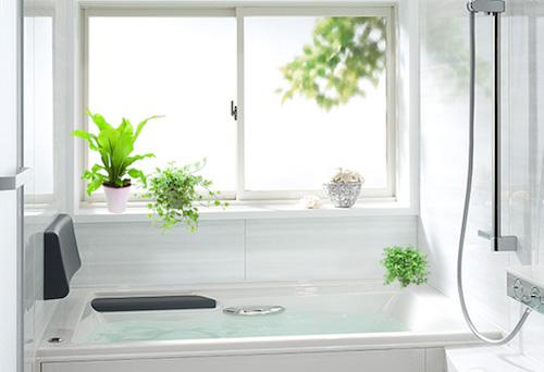 バスルーム インテリア 観葉植物