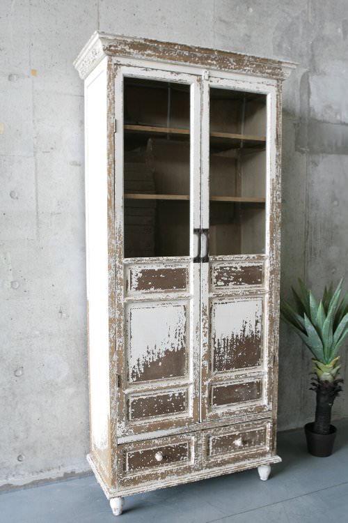アンティーク 本棚 扉付き