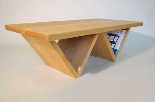 テーブル付きマガジンラック W脚
