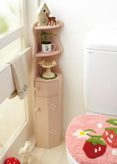 トイレラック ピンク