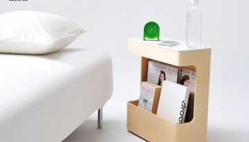 テーブル付き マガジンラック ボックス型