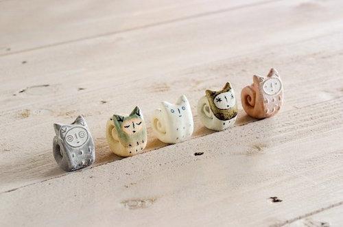 Cat's pottery