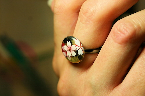 Japanese pattern ring