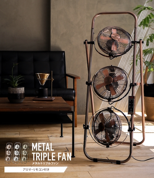 Metal Triple Fan