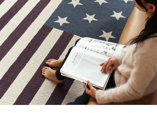 Stars and Stripes rug mat