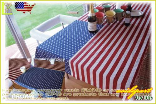 Stars and Stripes table cloth